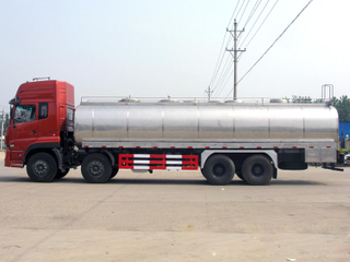 Dongfeng Tianlong 30cbm Insulated Milk Truck Stainless Steel Tanker