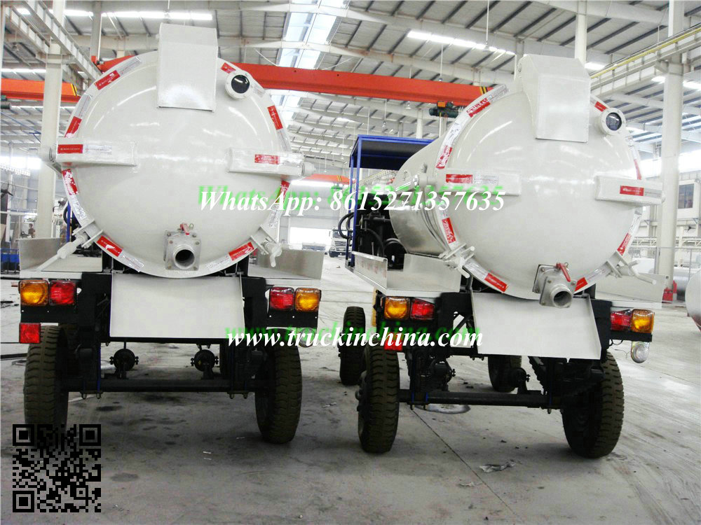 3000~1000 Ltrs Small Vacuum Tank Toilet Full Trailer Tank Dolly Trailer Sewage Tank Part