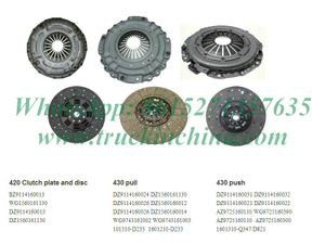 Shacman Parts,Truck Clutch Plate, DZ9114160032,DRIVEN DISC, Sinotruck And Shacman Parts,
