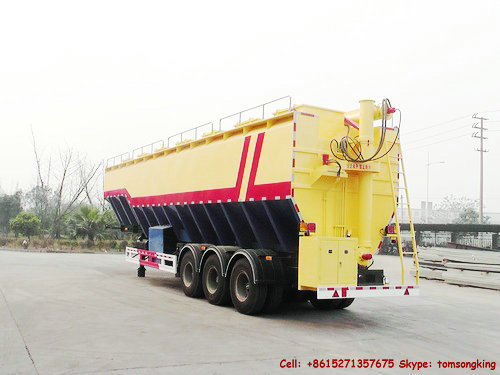 Bulk Poultry Feed Transport Trailer 56cbm