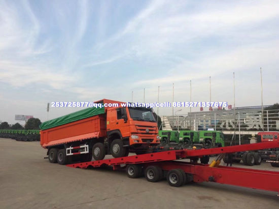 Heavy Equipment Recovery Wrecker Trailer with 12PCS Container Locks and Winch (Patform Liftable And Slide, Beam Stretchable)