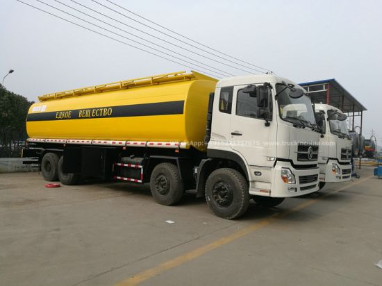 Dongfeng Chemical Acid Liquid Trucks 28t HCl Acid Tanker 12 Wheels (For Chemical Acid Liquid, Drink Water, Carbon Steel Lined PE Tank with Acid Chemical Pump)