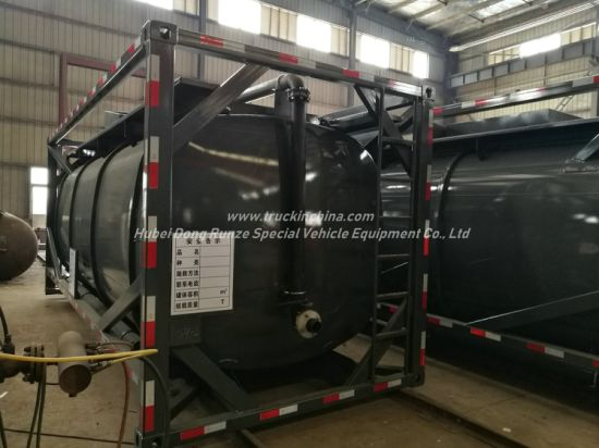 Hydrochloric Acid Solution ISO Tank Container 20FT Frame Locks Customized with Top Loading Pipes for 35% HCl, Naoh (max 50%) , Naclo (max 10%) , H2so4