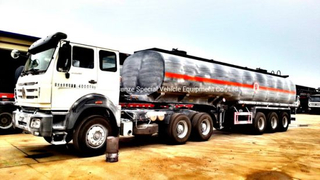 Acid Tanker Trailer for Road Transport (Hydrogen Fluoride) Hydrofluoric Acid Hf 48%