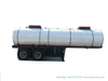 Sodium Hypochlorite Chemical Liquid Tanker Trailer (2 axles 19cbm Steel Tank inner Lined LLDPE Outer Insulated Rockwool 80mm for 10% -15% NaClO Bleach Javel)
