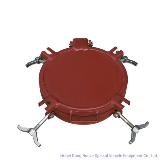 Double Flanged Carbon Steel Manhole Cover for Sulfuric Acid Tank, Bulk Tank, Chemical Oil Liquid Tank Truck Manhole (DN300 -500mm 0.2-0.4MPa)