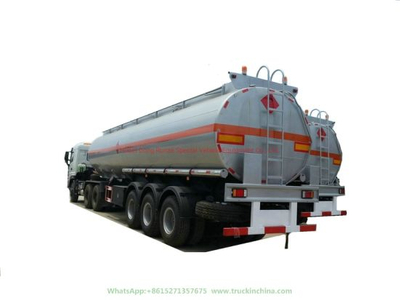 3 Axles Stainless Steel Tank Trailer for Drinking Water, Edible Oil, Liquid Food, Milk, Alcohol