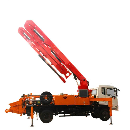 Small Truck Mounted Concrete Pump 24m -27m Cdw