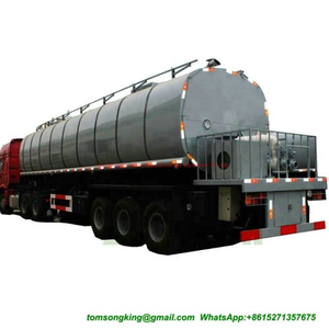 40cbm Thermal Insulation Asphalt Tank Semi-Trailer for Liquid Hot Bitumen Transport with Heating System Burners