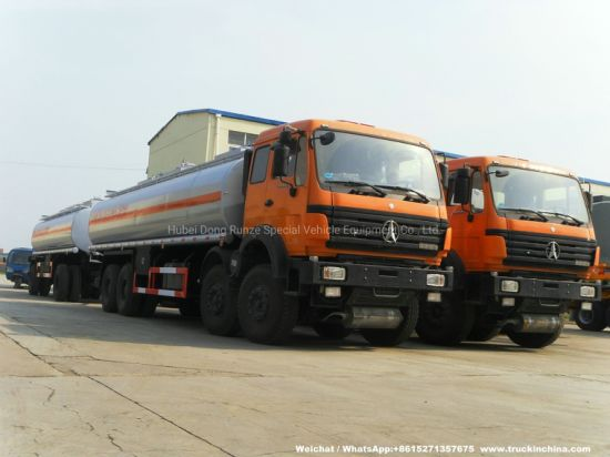 Beiben (North Benz 8X4 Tanker) 30000L +15000 Liters Fuel Tank Truck with Full Tank Trailer