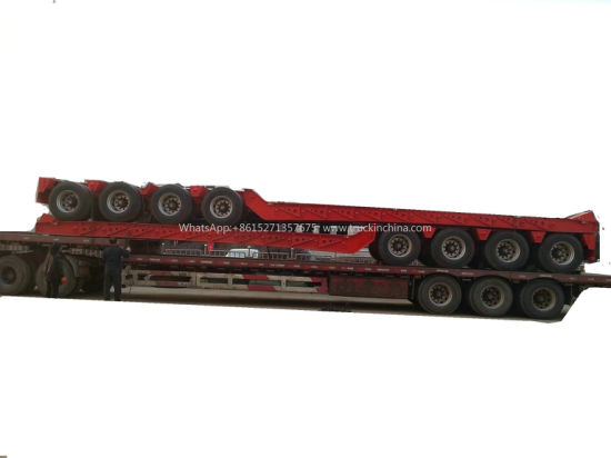 Detachable Gooseneck Dolly Trailers 1-2 Axles for Heavy Duty Overload Lowboy