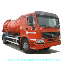 Sinotruk HOWO 6 Wheels VAC Tanker Sewage Sludge Truck with 8000L 12000L Septic Tank Rhd or LHD 4X4.4X2