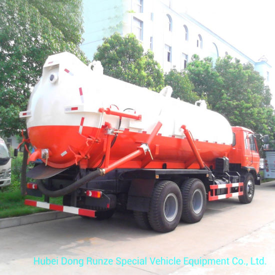 Dongfeng Sewage Tanker Truck 18000liters VAC Tank for Sewer Sucking Septic LHD. Rhd 6X4.6X6