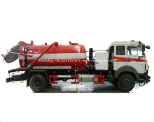 Beiben 1627 Vacuum Tanker Combined Sewer Jetting Tank a 6000ltrs of Solid Liquid Human Waste Tank Part B 4000litrs of Clean Water for Cleaning and Flushing