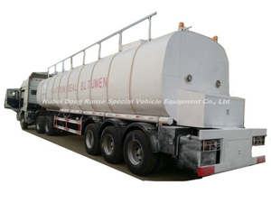 Insulated Bitumen Tanker Trailer Semitrailer 50cbm (Asphalt Tank) with Two Burner Heater