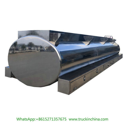 Mirror Stainless Steel Drinking Water Milk Tank Upper for Tanker Trailer Customizing 2500L -25000L
