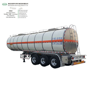 Aluminum Tanker Trailer 36000L~42000L 3 Axle Transport Food Cooking Oil Edible Oil