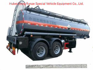 Hydrochloric Acid Tank Semi Trailer 2 Axles 19900liters, 22400liters