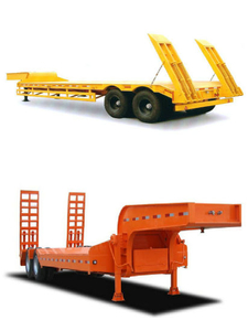 Excavator Transportation Lowbed Trailer 2 Axles Cheap Price