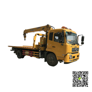 Flat Bed Wrecker with Loading Crane for Car Recovery on Road (5T -6T Crane Car carrier)