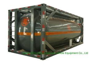 316 Stainless Steel ISO Tank Container 20 FT for Hazardous Liquids Road Transport