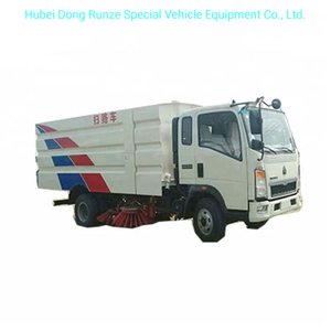 HOWO Road Vacuum Road Sweeper 4cbm Garbage 1 Cbm Water Stainless Steel 4X2 -Rhd. LHD 5