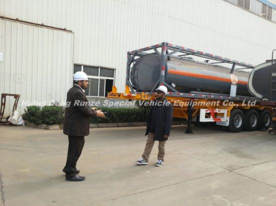 Sulfuric Acid Tank 20FT. 30FT LDPE Lined 16mm-20mm Perfect for Transport Dilute Sulphuric Acid 60% and Sulfuric Acid 98%, Hydrochloride, Hydrochloric Acid, Hf