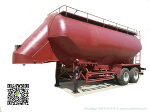 2 Axles Bulk Tanker Trailer for Transporting Wheat -Bean Grains Tank Capacity 35cbm Silo