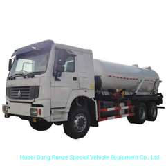 Sinotruk HOWO 10 Wheels VAC Tanker Sewage Sludge Truck with 16000L Septic Tank Rhd or LHD 6X4 /6X6
