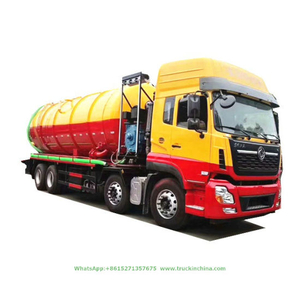 Sewer Vacuum Cesspit Tankers Mounted on Trucks (VAC Tank Lined PE or Stainless Steel with High Pressure Water Ring VAC Pump)