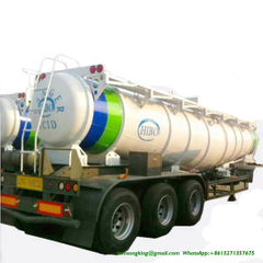 V Shape Concentrated Sulfuric Acid Tank Trailer Loading 99.8% H2so4 Transport 40 Ton 22000liters