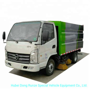 Mini Kama Road Sweepers 1.7m3 Dustbin, 0.8m3 Clean Water Tank