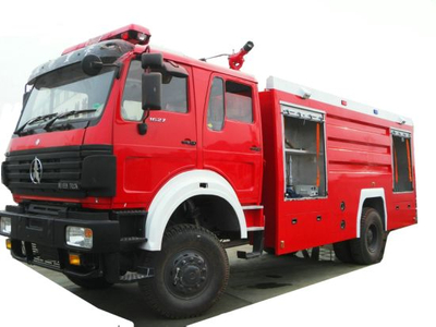 Double Cabin Beiben 4X4 Water Tanker Fire Truck for Sale (Fire Pumper, Fire Fighting Vehicle, Fire Tender)