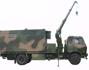Dongfeng Awd 4X4 Offroad Truck Mounted Mobile Workshop Conainer with Crane 3 Ton