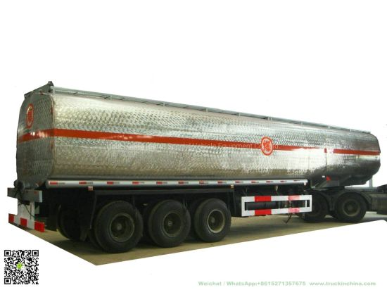 Heavy Duty Stainless Steel Tanker Semi Trailer 60000L for Food Oil, Ethanol, Liquor, Win (40-60T Polished Stainless Tanker)