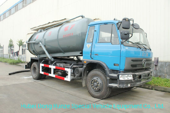 Diesel Vacuum Tanker Truck for Chemcial Factory Sucking Chemical Acid Waste, Tank Inside Lined PE 10000 Liter
