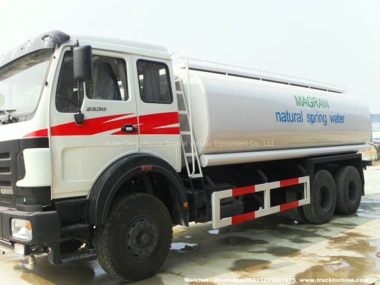 Beiben Truck Mounted Water Tank 20t-25t (Stainless Tank for Potable Water, Fresh Water, Produced Water, Spring Water with Water Bowser)