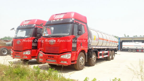 FAW Road Tanker Truck with Insulation Layer for Heat Bitumen, Liquid Asphalt, Coal Tar Oil, Crude Oil Transport 26, 000L-30, 000liters 12wheels