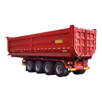 4 Axle 45 Cubic Meters Clinker and Gravel Tipper Trailer 60t~90t for Africa