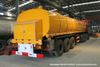 33t Asphalt Tanker for Liquid Hot Bitumen Transport with Heating System Rockwool Wraped Insulation with Baltur Diesel Oil Burner Generator