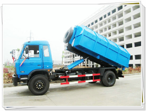 Cheapest Dongfeng 10t Hooklift Truck 10cbm Garbage Bins for Sale