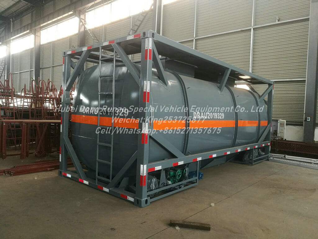 HCL-Acid-ISO Tank-11KL- Container Lined LDPE