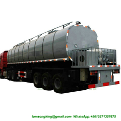 DTA bitumen tanker semitrailer 40cbm with PUMP and HOWO tractor