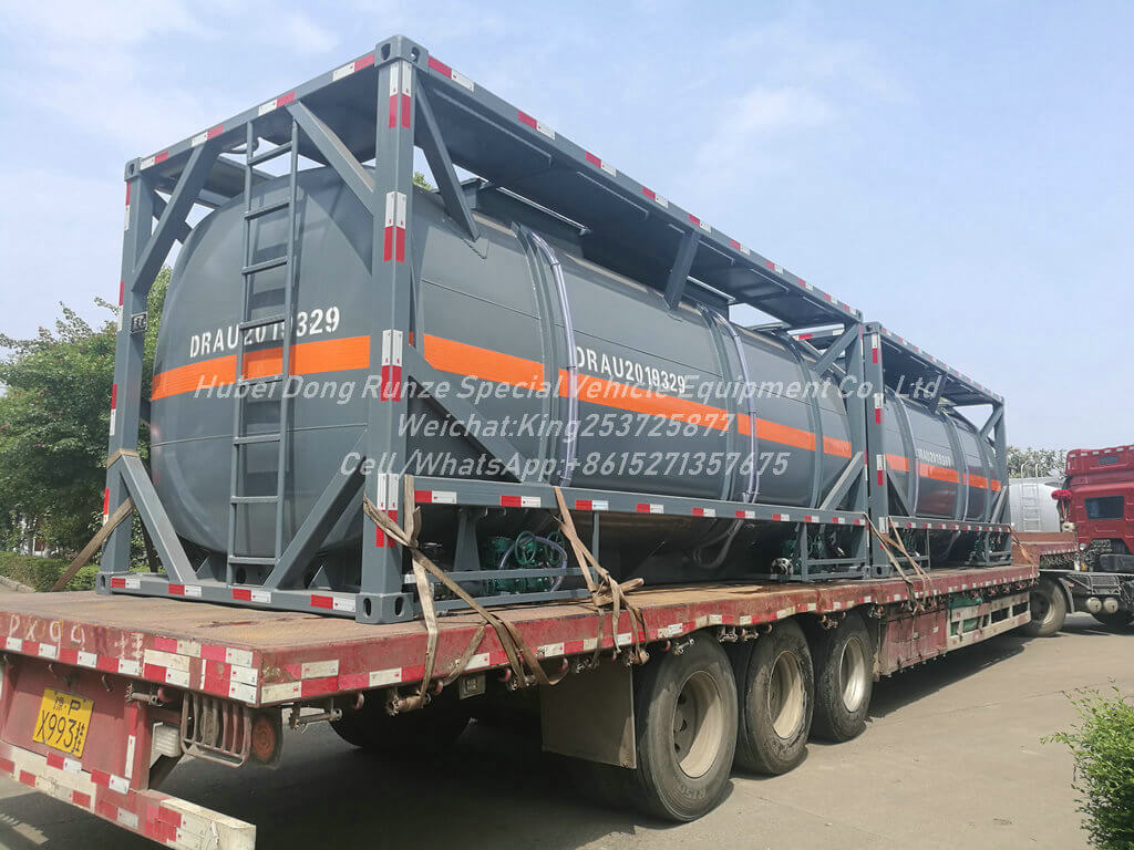 ISO 20ft NaCLO acid-20000L- Tank Container Lined PE