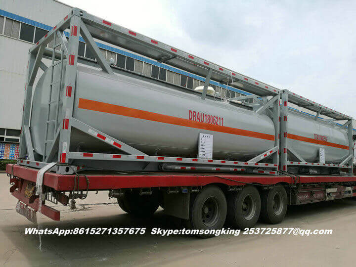 2units 20ft ISO tank containers Steel Lined LDPE for Hydrochloric Acid export vietnam
