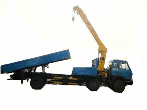 Dongfeng 15 Ton Tipper Dump Truck Mounted With Crane 8 Ton