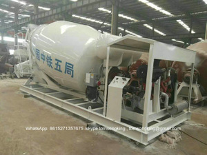 Skid Mounted Concrete Mixer Tank Station 8 CBM - 16 CBM Customizing